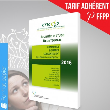 Actes CNCDP 2016 (papier) - Adhérents FFPP